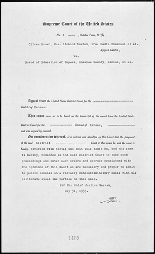 Judgment Brown V Board Of Education 05 31 1955 Title