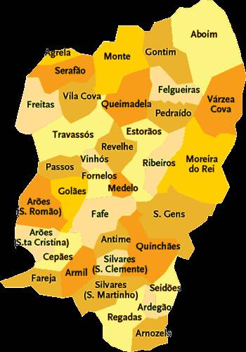 mapa do concelho de fafe Concelho de Fafe | Mapa das freguesias | Jorge Bastos | Flickr mapa do concelho de fafe