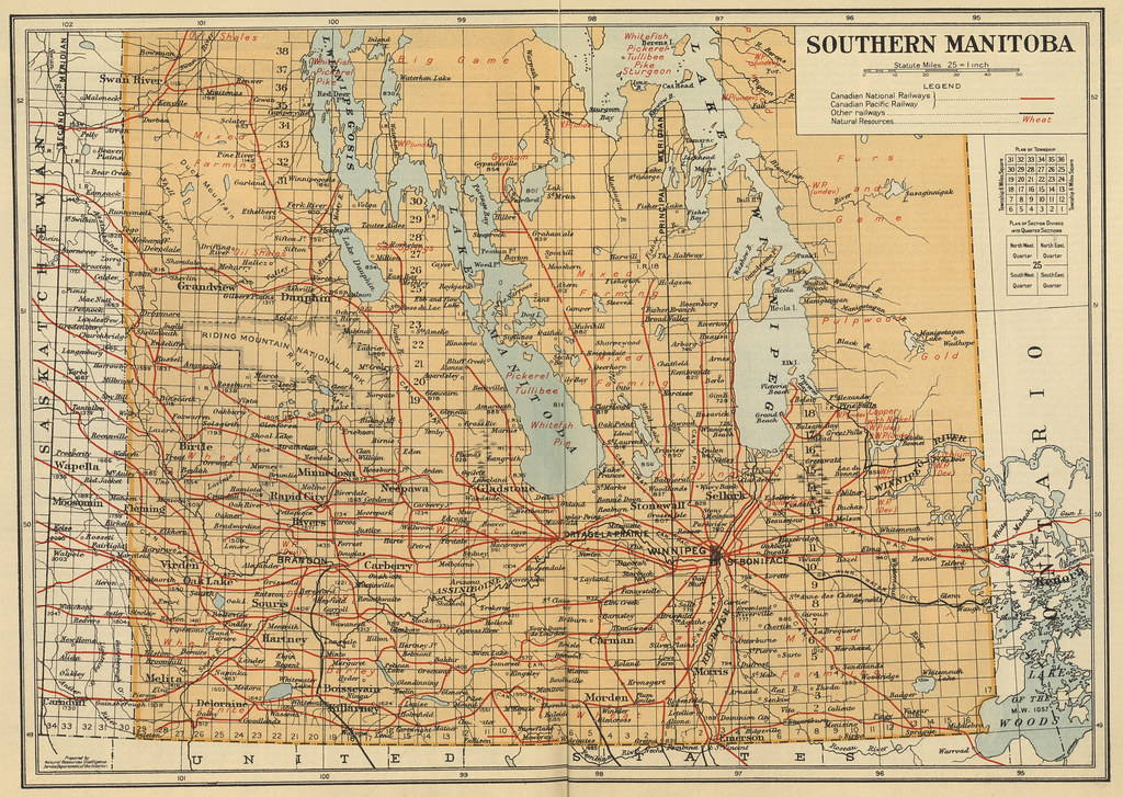 Southern Manitoba 1930 Canada Natural Resources Intellig Flickr