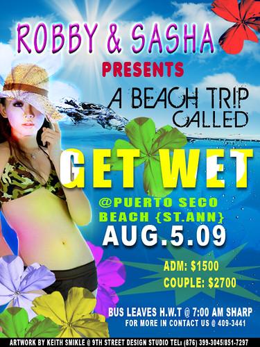 Robby Sasha Beach Trip Flyer
