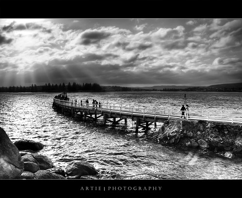 Down the Memory Lane of Victor Harbor Causeway :: BW | HDR | by :: Artie | Photography :: Travel ~ Oct
