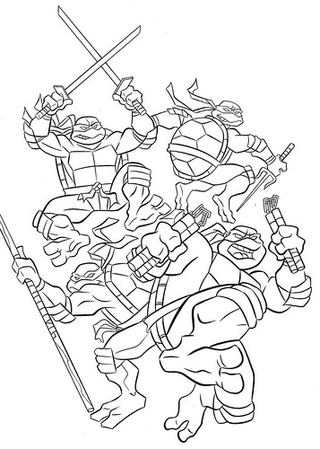 u0026quot teenage mutant ninja turtles u0026quot  coloring book by bendon pub
