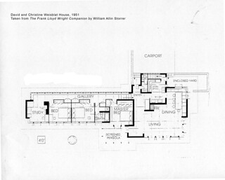 David and Christine Weisblat House Plan (1951), Frank Lloyd Wright | by MI SHPO
