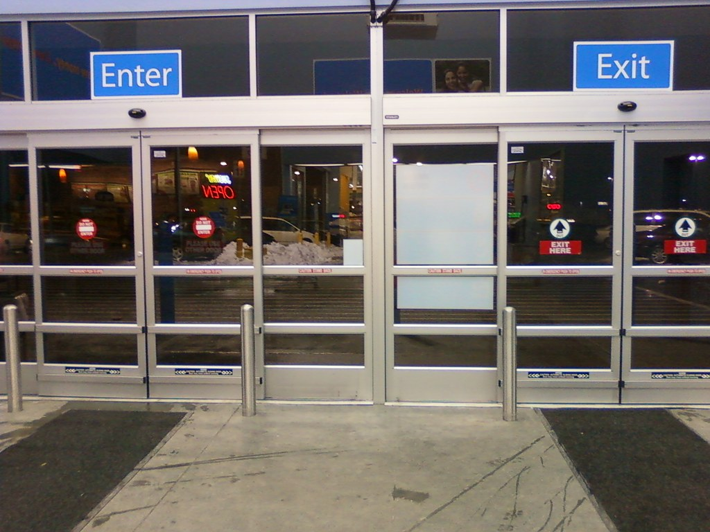 ... Wal-Mart - Irvington (Omaha) Nebraska - Entrance/Exit Doors | & Wal-Mart - Irvington (Omaha) Nebraska - Entrance/Exit Doou2026 | Flickr