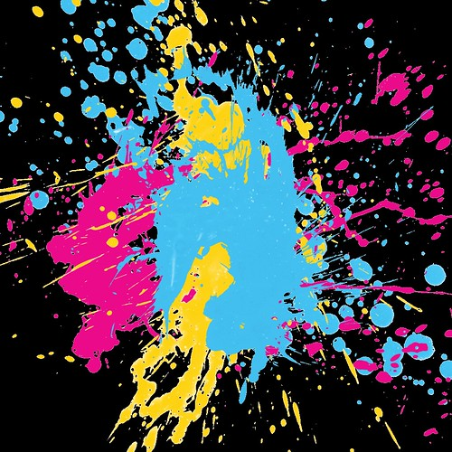 Neon Paint Splatter | Neon colored paint splattering ...