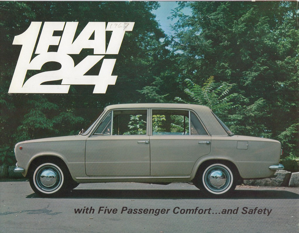 Fiat 124 USA brochure 1967 | Whitewall tires were so ...