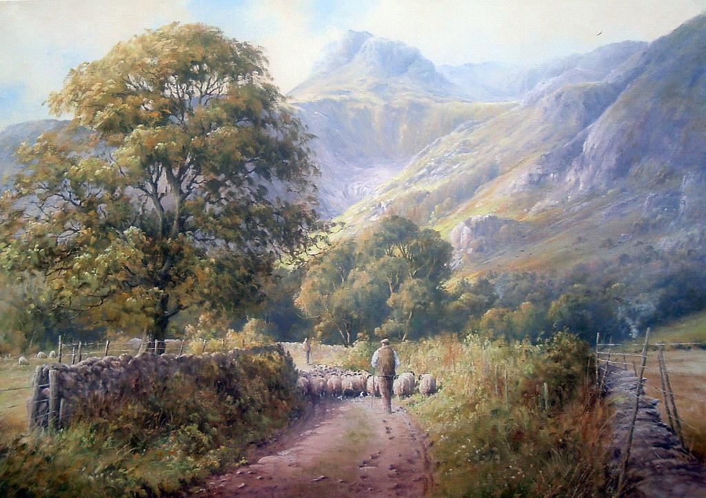 Original Oil Painting. 'Driving To Langdale'