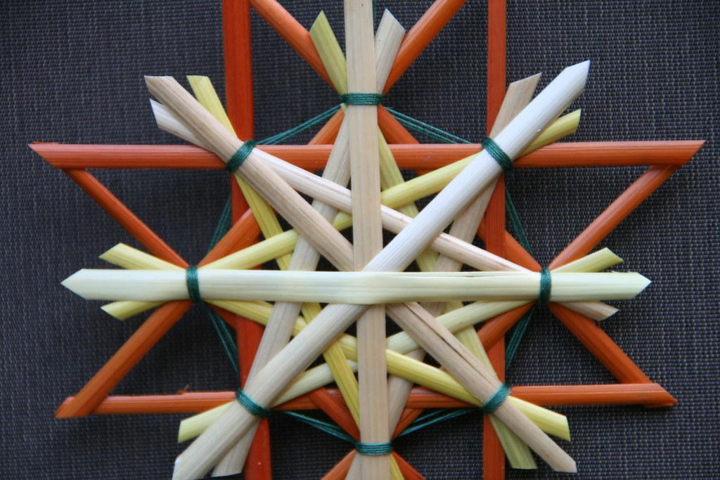 Straw Star Christmas Decoration