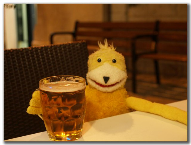 Flat Eric On Holiday Having A Beer In Alcudia Petrova