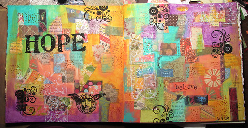 hope    art journal page