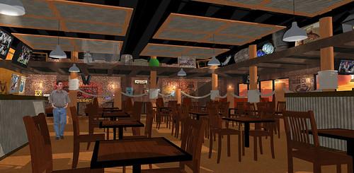Interior Restaurant Rendering | 3D Restaurant Design | Caj ...