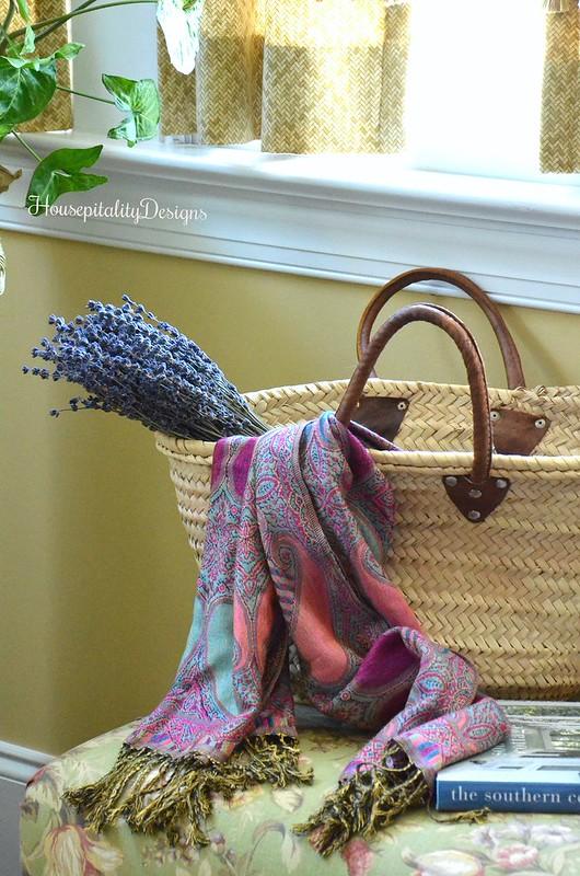 French Market Basket-Italian Scarf-Lavender-Housepitality Designs