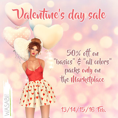 Valentine's Day 50% off sale!!!