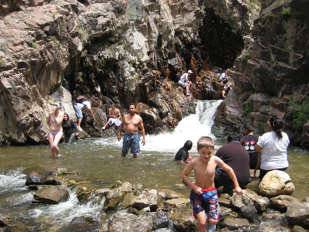Santa Fe New >> Keith, Chad and Johnny hiking up to swim at Nambe Falls | Flickr
