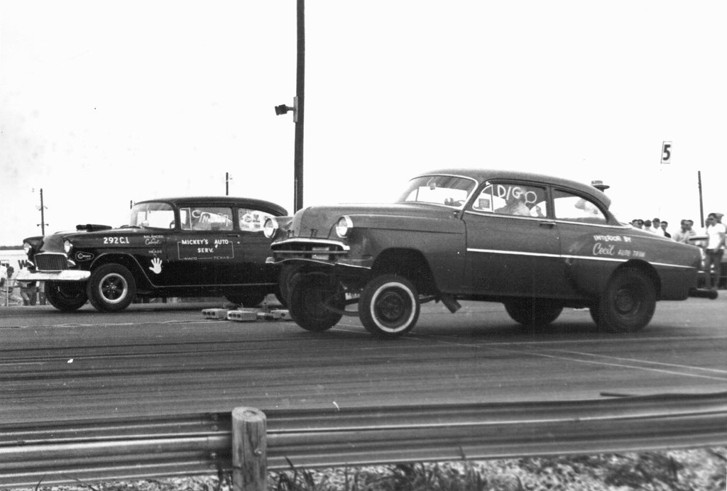 Drag Racing in Austin Texas,1967 | Scanned from old prints I… | Flickr
