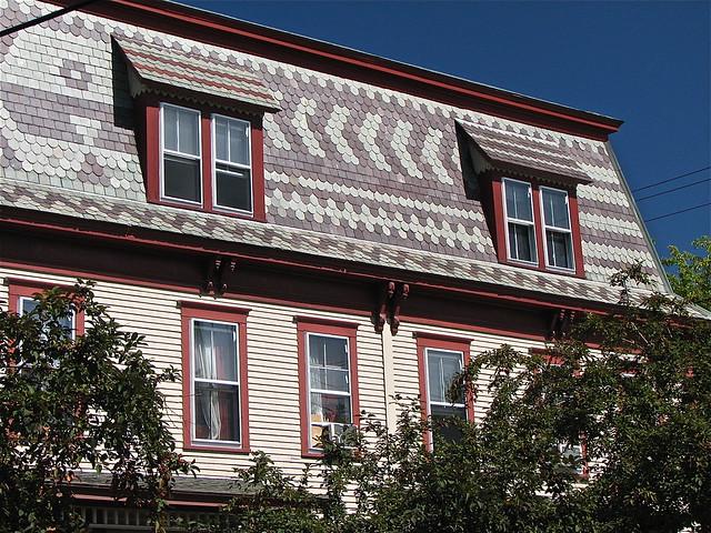 94 106 maple st 1885 mansard slate roof detail for Mansard roof section