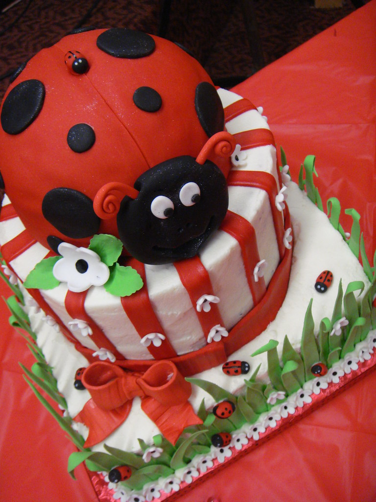 Beautiful ... Ladybug Baby Shower Cake | By Sweet Pea 0613