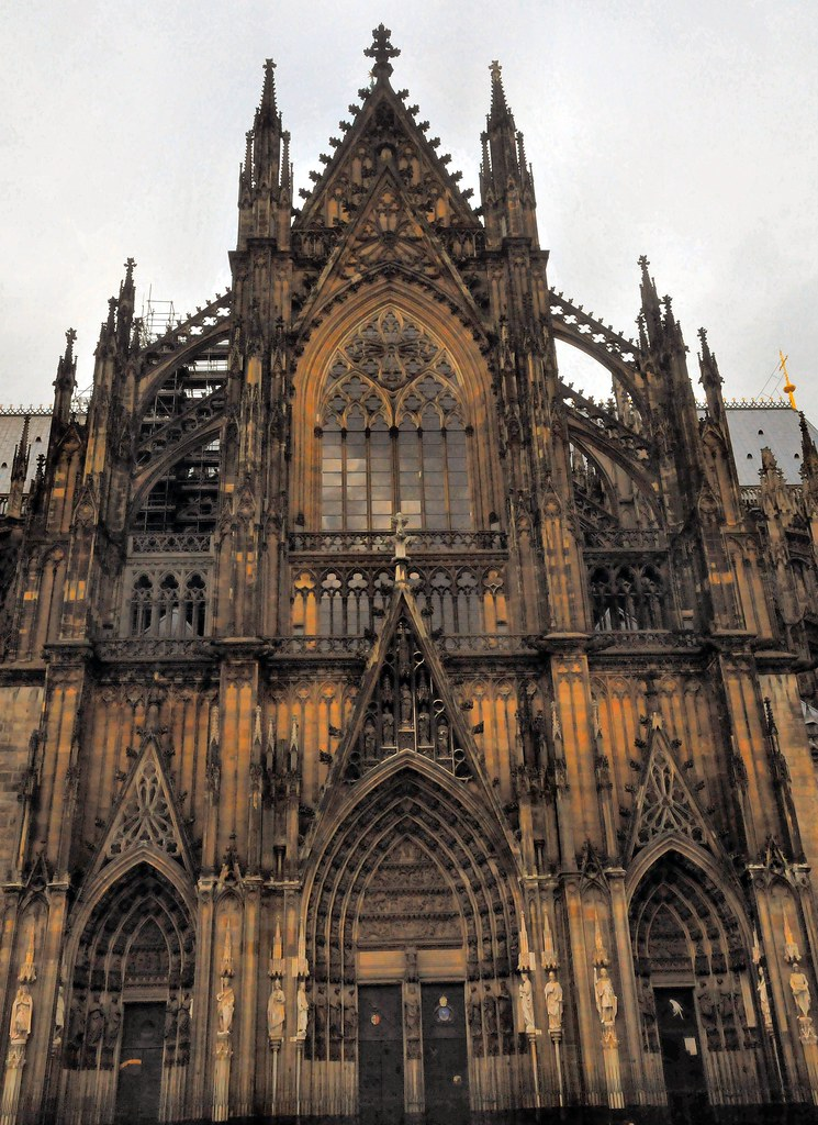 Cologne Cathedral Facade Köln Cologne Cathedral South