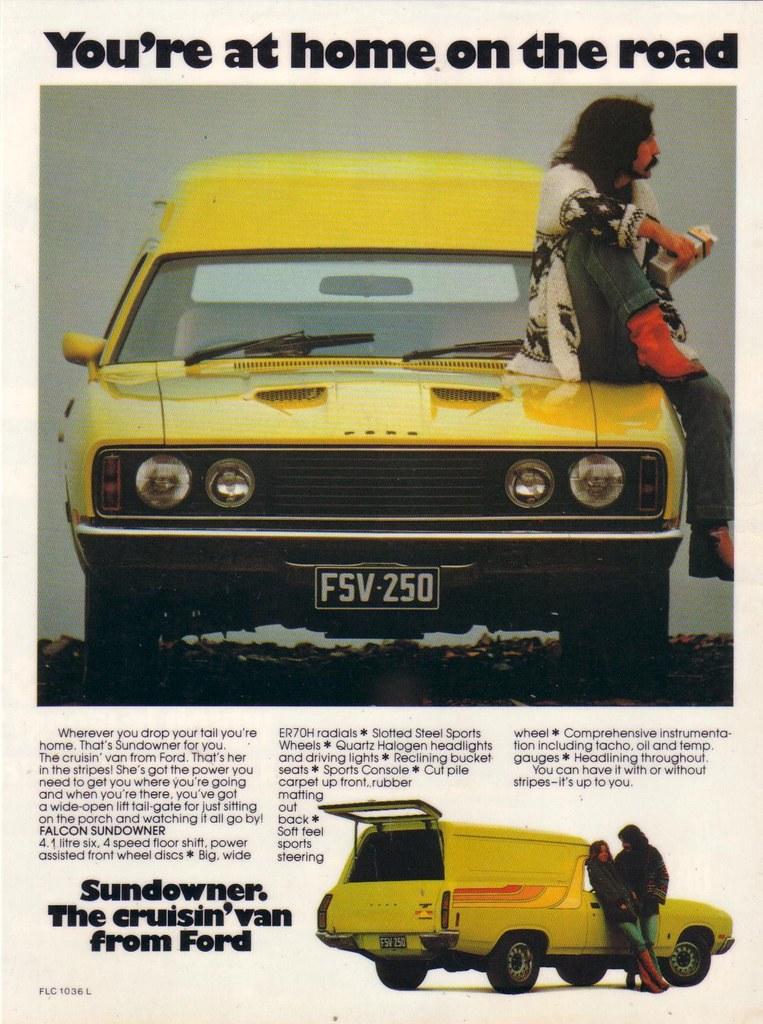 Ford XC Falcon Sundowner Panel Van Ad | One Rare Van to ...