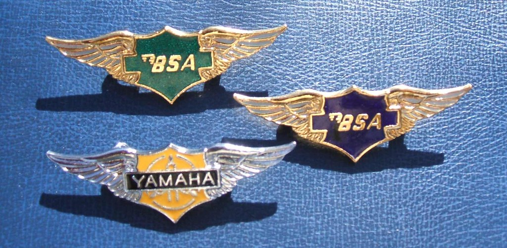 Bsa And Yamaha Motorcycle Badges A Group Of Recently Issue Flickr