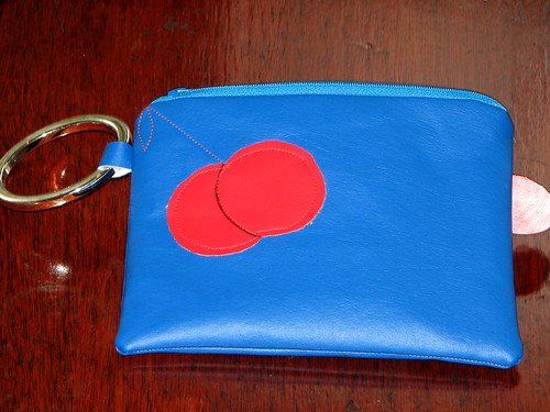 Ms. Pac Man wristlet back | by Niles Z