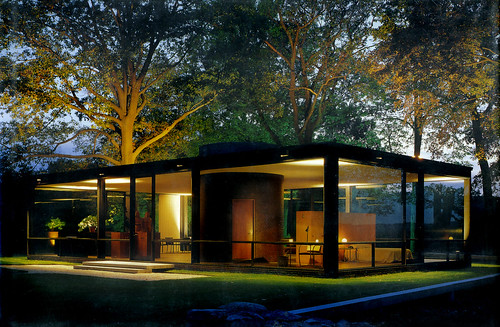 Glass House Dusk Philip Johnson Arch All Images Clic Flickr