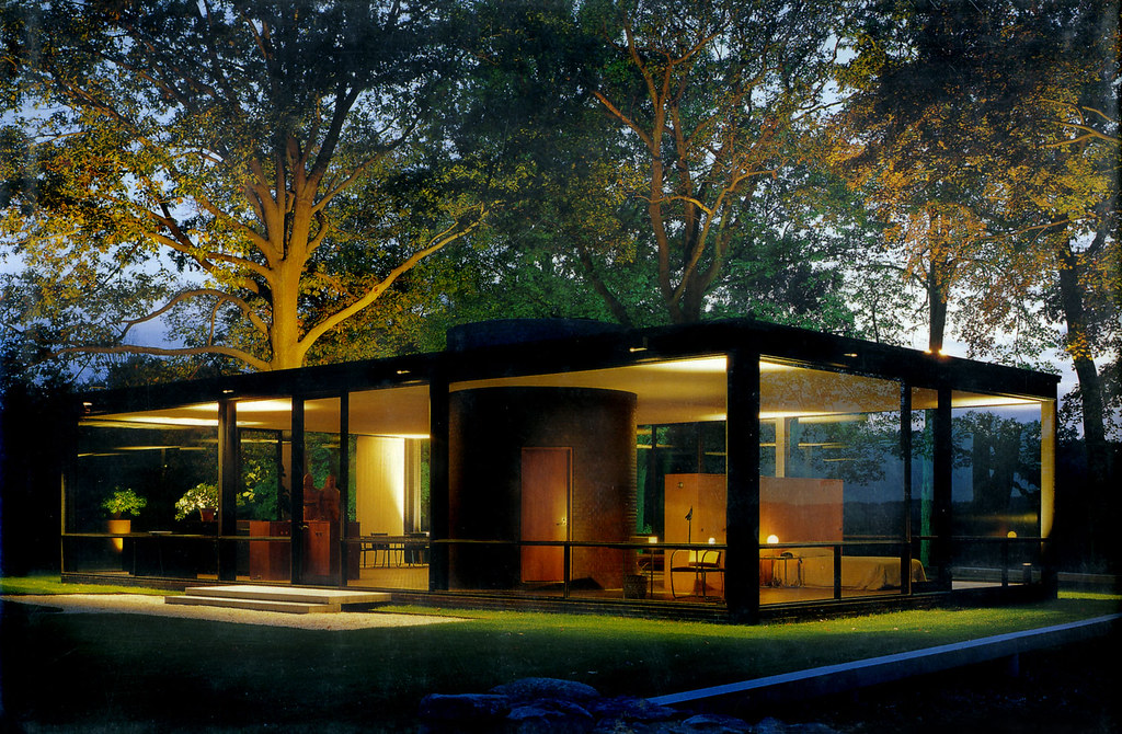 Philip Johnson Glass House glass house dusk philip johnson arch all images clic flickr