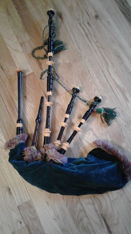 Vintage Scottish Bagpipe Brigade Collectible Miniature Figurines ...