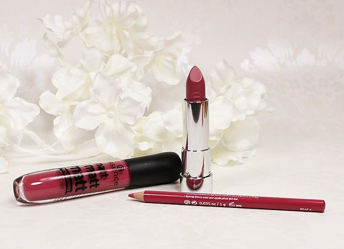 Essence Matt Matt Matt lipstick and lip gloss. Essence Lipliner