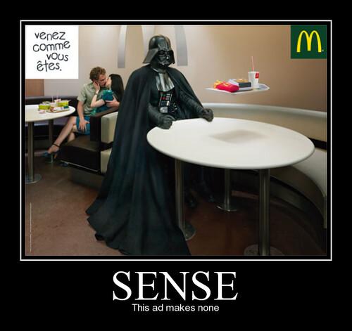 Sense. | This ad makes...