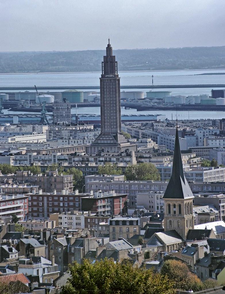 9324 le havre france eglise saint vincent et la tour st for 3d architecture le havre