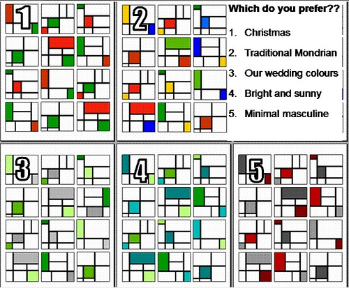 Mondrian quilt design and colours | votes please, I can't ...