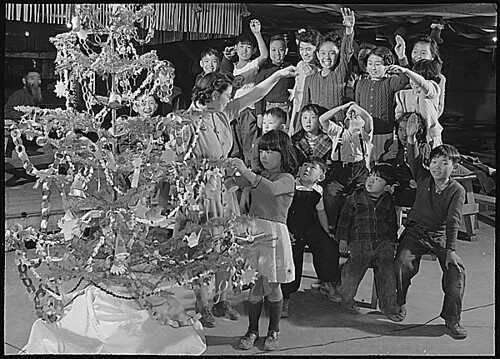 Granada Relocation Center, Amache, Colorado. There aren't any Christmas trees for the barracks room . . ., 12/24/1943 | by The U.S. National Archives