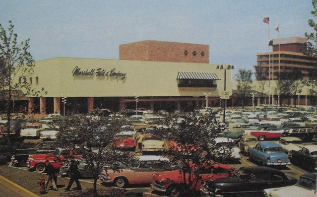 Vintage Postcard Photo 1960s Marshall Fields Shopping Mall
