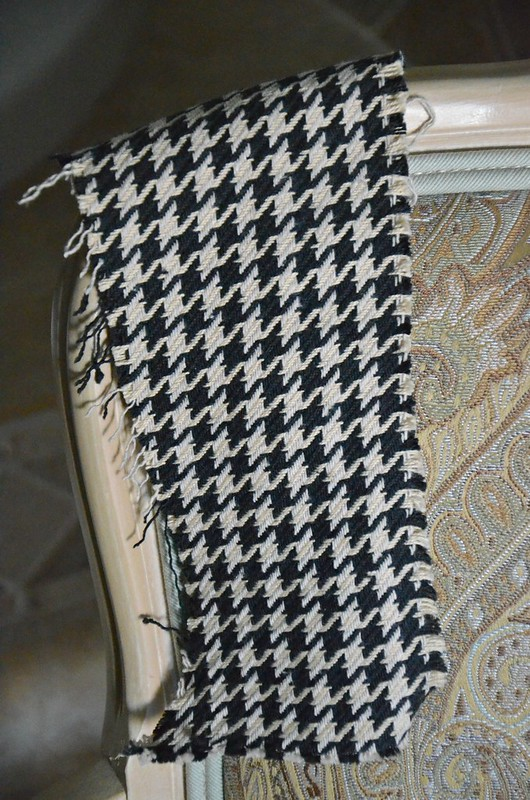 Houndstooth fabric for chair-Housepitality Designs