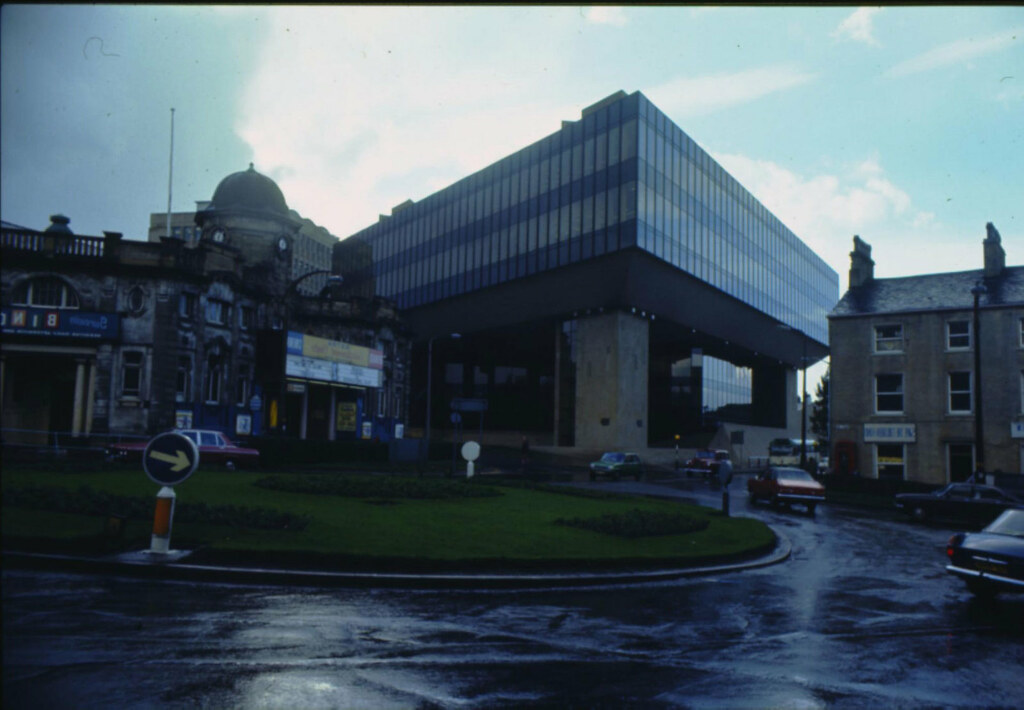 Halifax building society offices in 1977 this image is for Office design west yorkshire