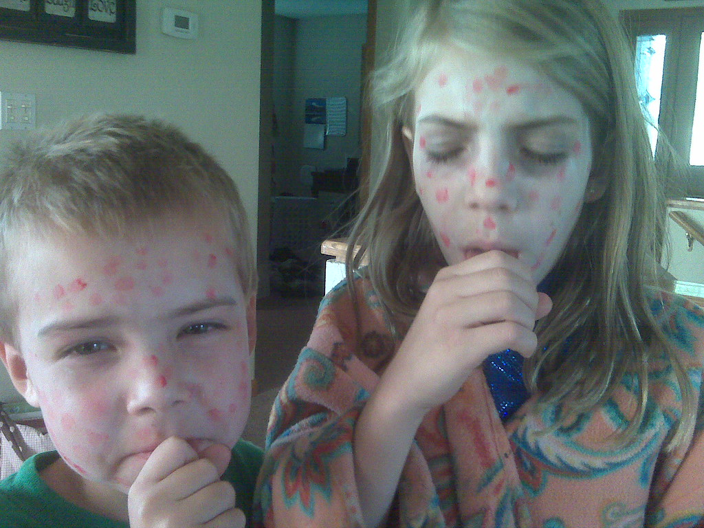 By GoodNCrazy My Kids Found The Halloween Stuff And Face Paint