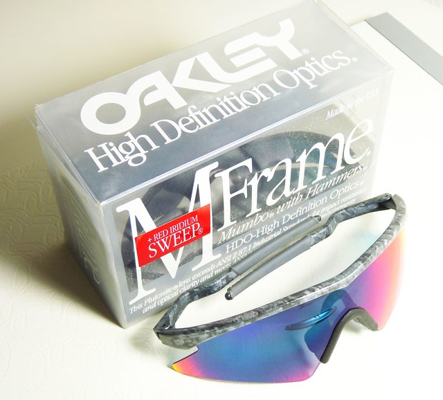Oakley M Frame Sweep Mumbo Black Rain +Red Iridium | Flickr