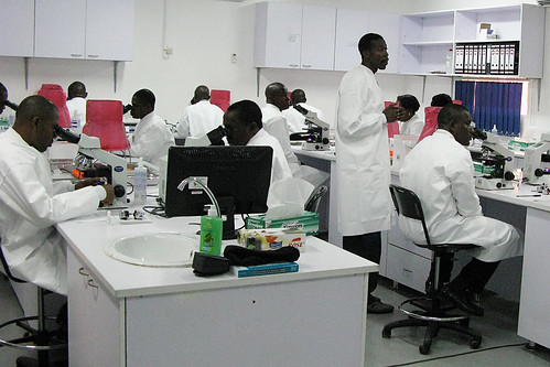 USAMRUK Malaria Diagnostics and Control Center of Excellence microscopy training -  Nigeria, Africa, September 2009 | by US Army Africa