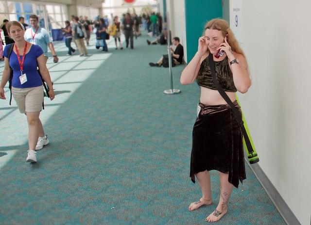 Woman in a denim cutoff skirt gets fucked - 3 6