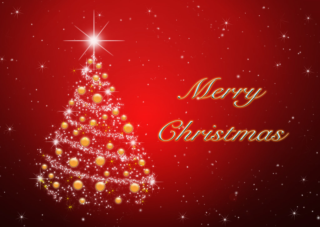 Merry christmas tree red wallpaper you can create for Natale immagini per desktop