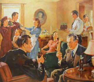 1940s COCA COLA Thanksgiving vintage illustration family advertisement | by Christian Montone