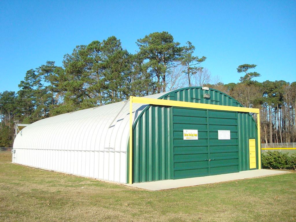 Metal Shelters For Batting Cage : Steelmaster metal indoor batting cages s model