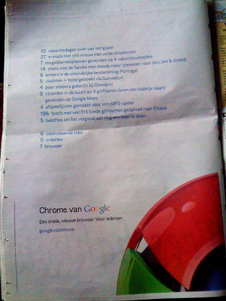 Toch wel raar om advertenties van google in een krant te l flickr - Om een e b e bbinnenkap te creeren ...