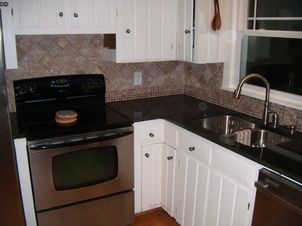 Black Granite Tile Kitchen Countertops
