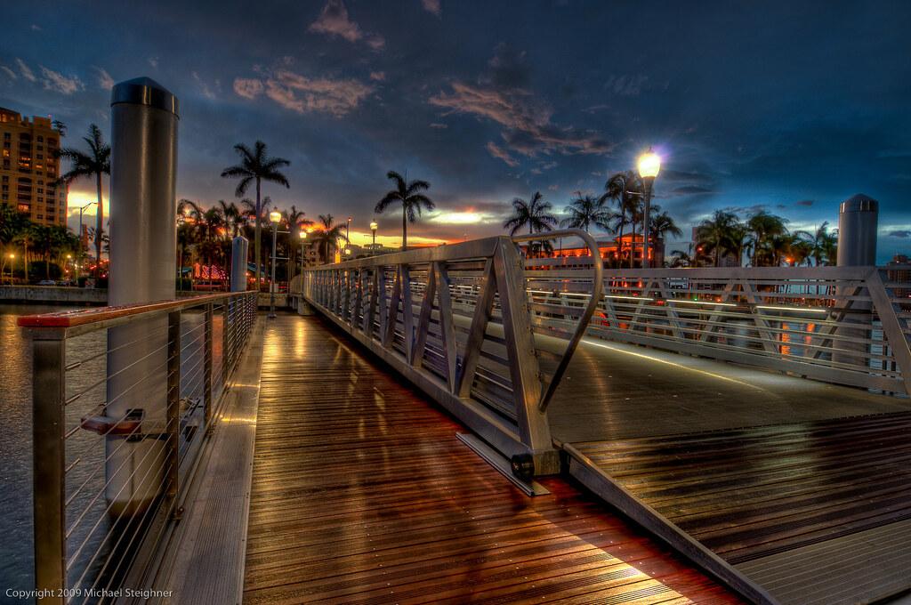 Rainy Night At Dusk The New Docks