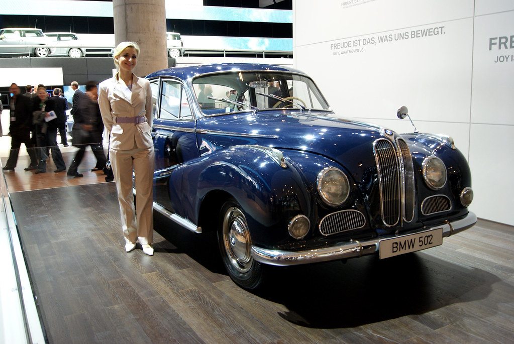 bmw 502 the most interesting car on the bmw stand in my o flickr. Black Bedroom Furniture Sets. Home Design Ideas