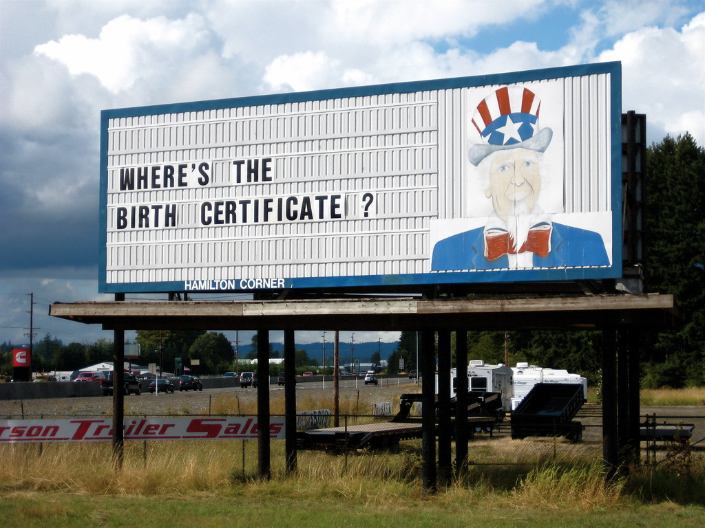 Birth Certificate Billboard Chehalis Wa Homemade Billboa Flickr