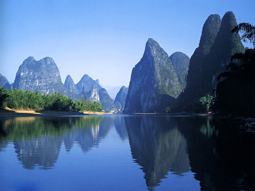 free powerpoint background of beautiful china 26 mountains