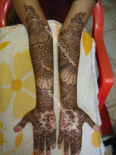 Bridal Mehndi In Chennai : Aarthi s bridal henna front hands nov  chennai